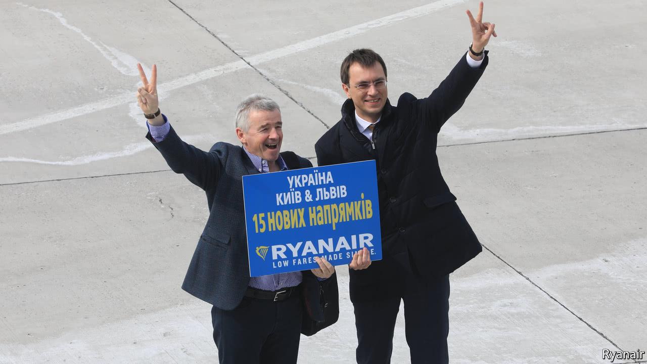 Ukraine convinces Ryanair to return   The Economist