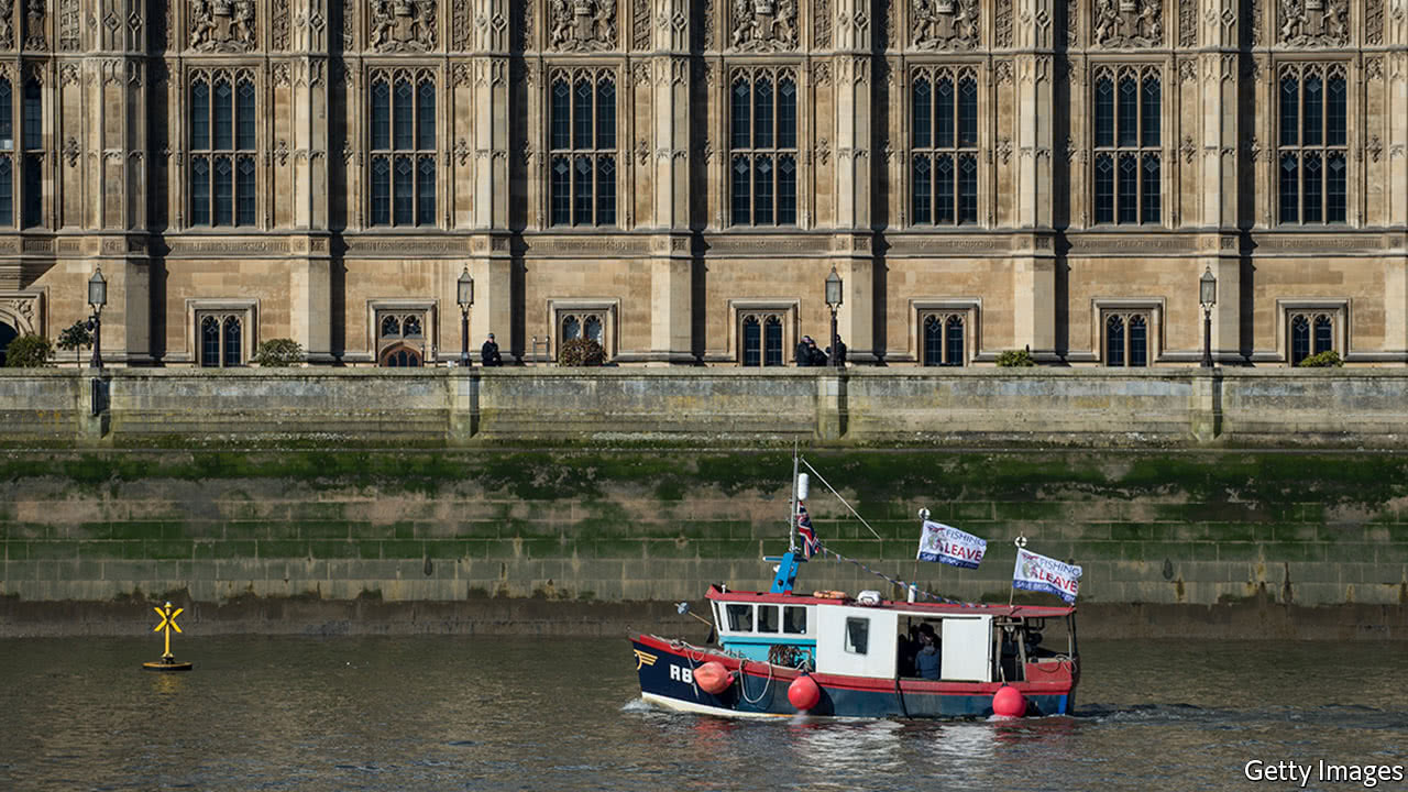 United Kingdom fishermen throw fish into Thames in protest of Brexit 'death sentence'