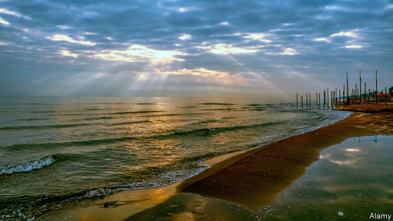 Is the Caspian a sea o...