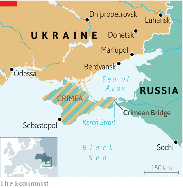 Ukraine And Russia Map.Russia Fires On And Seizes Ukrainian Vessels The Azov Crisis