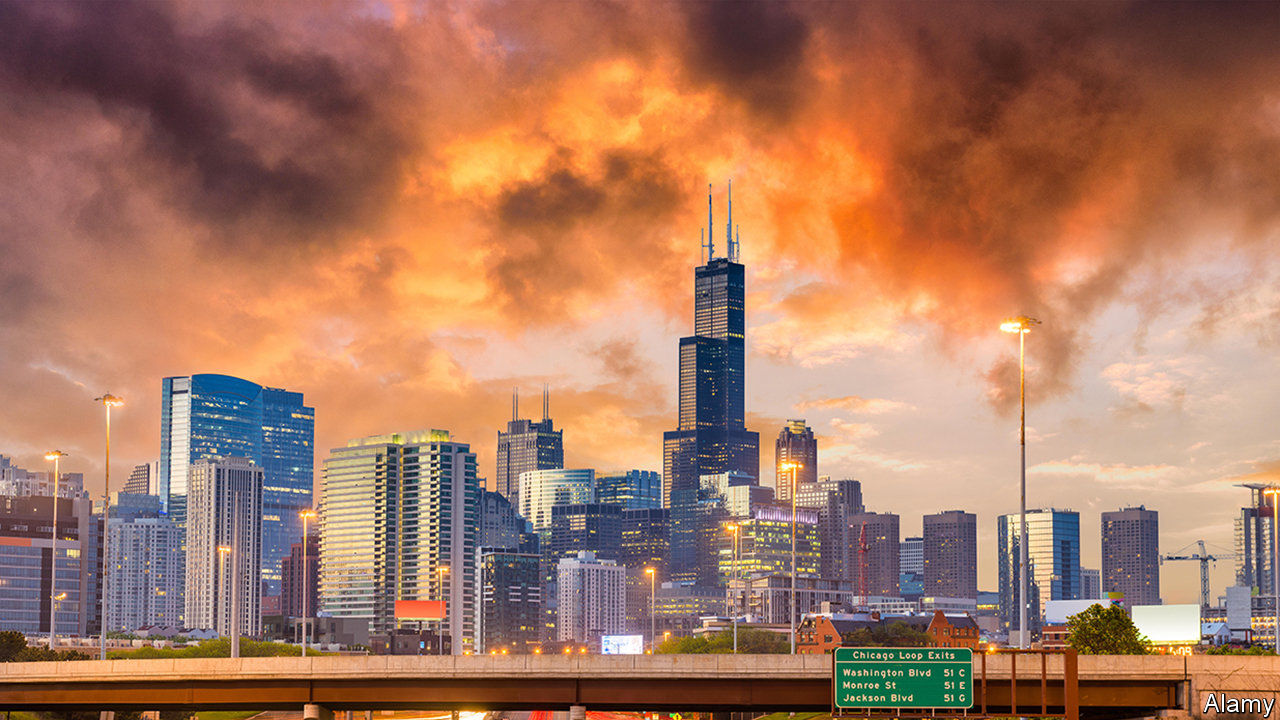 Why is the population of wider Chicago falling?
