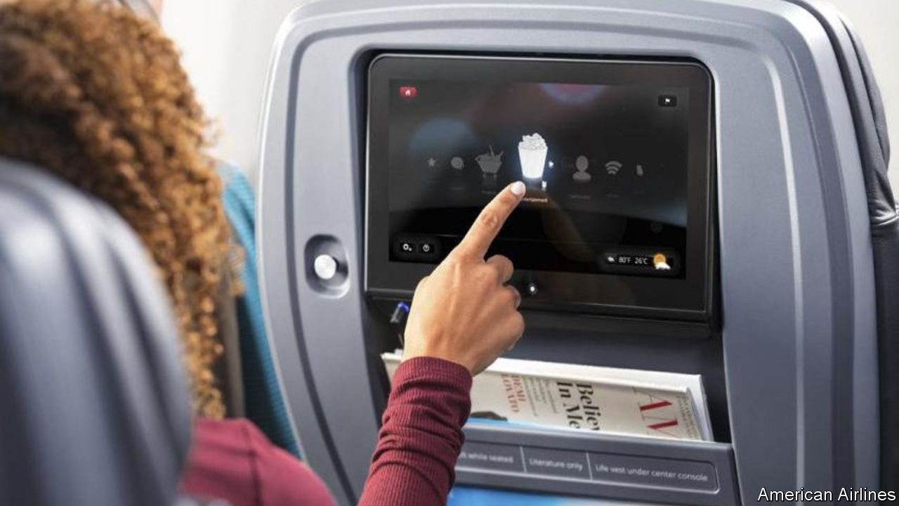 Some American carriers are installing cameras on their in-flight entertainment screens