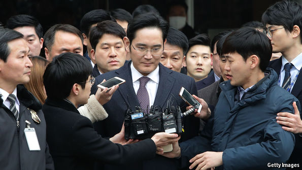 Samsung's boss is arrested on bribery charges