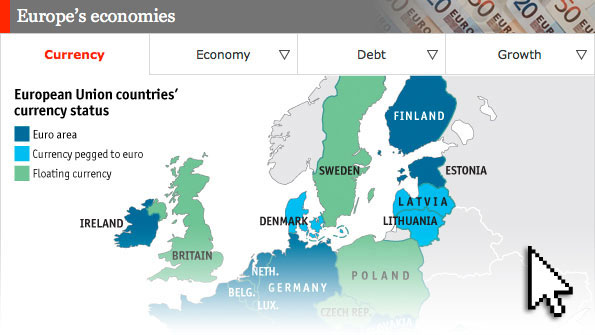 European Economic Guide - Us vs europe map