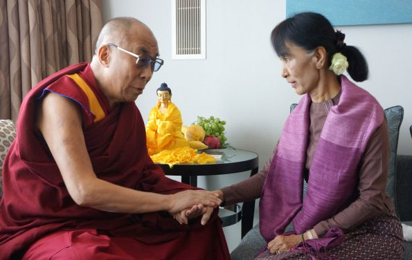 Image result for dalai lama and aung san suu kyi