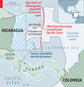 Hot Waters Colombia And Nicaragua - Us territorial waters map