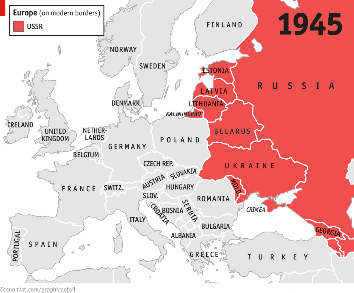 Hammer and scythe daily chart 1945 following the second world war the soviet union extended its control into modern day ukraine moldova belarus and four baltic states gumiabroncs Choice Image