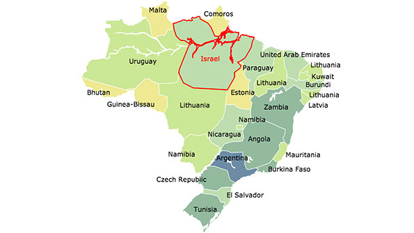 Brazils Closest Matches Comparing Brazilian States With Countries - Brazil states map