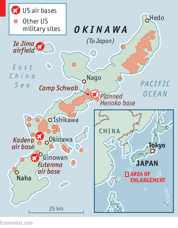 Showdown American Forces In Japan - Us military bases in okinawa map