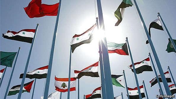 The Arab World S Multiplying Flags The Economist Explains