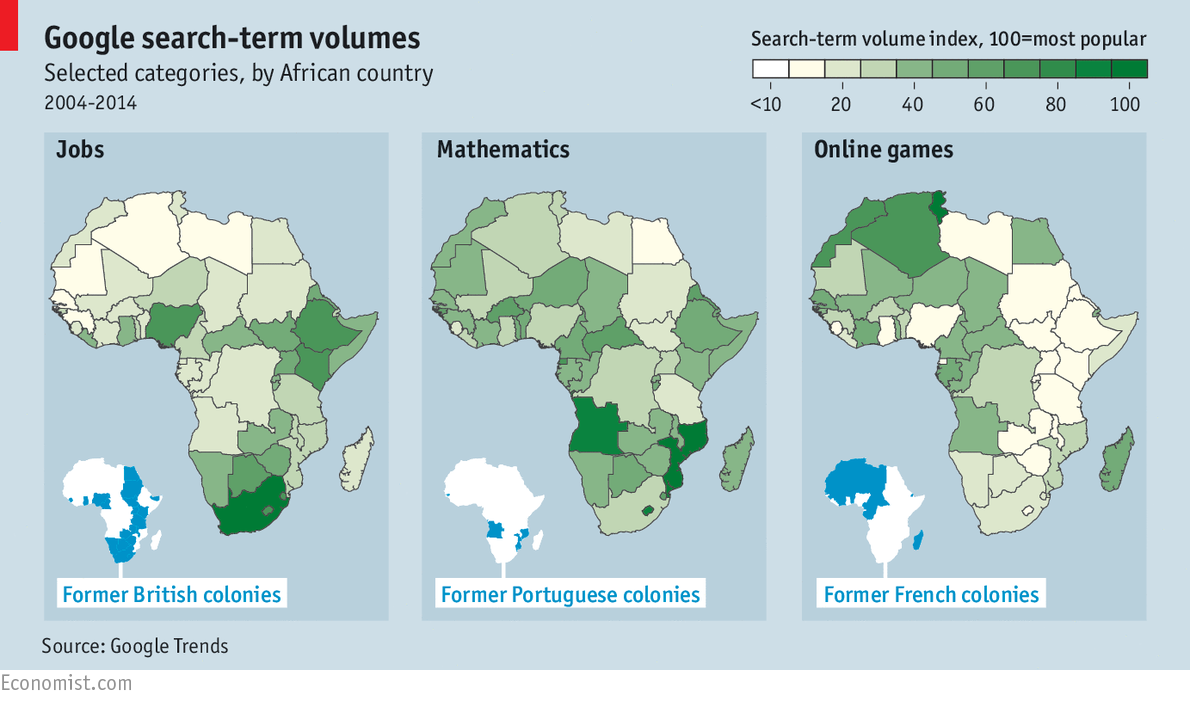 Francophone Africa Map.Work Or Play Googling In Africa