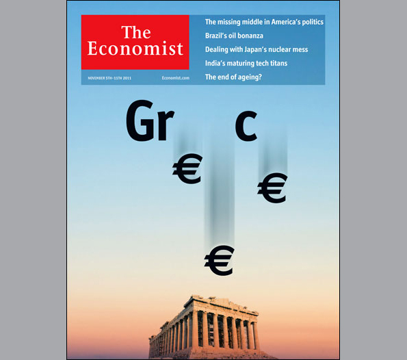 A tragic cover star - Greek crisis - The Economist's covers