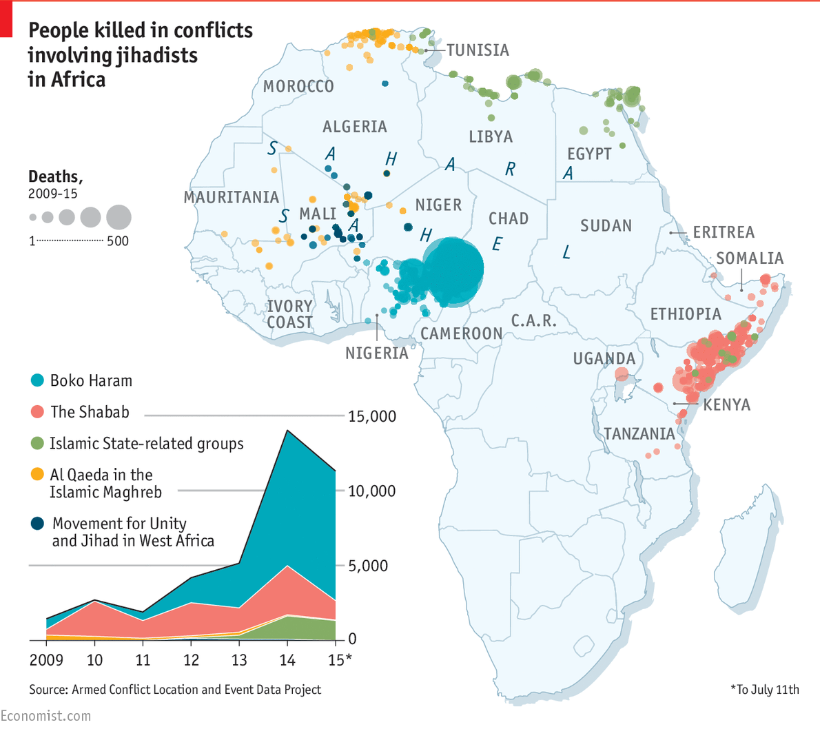 A rising tide daily chart jihadists in africa graphic detail geenschuldenfo Gallery