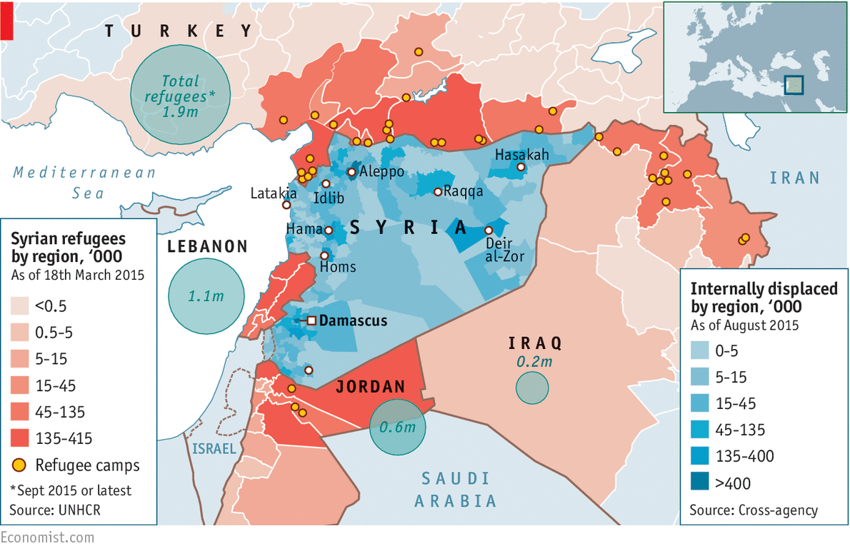 Syrias Drained Population Daily Chart - Germany population map 2015