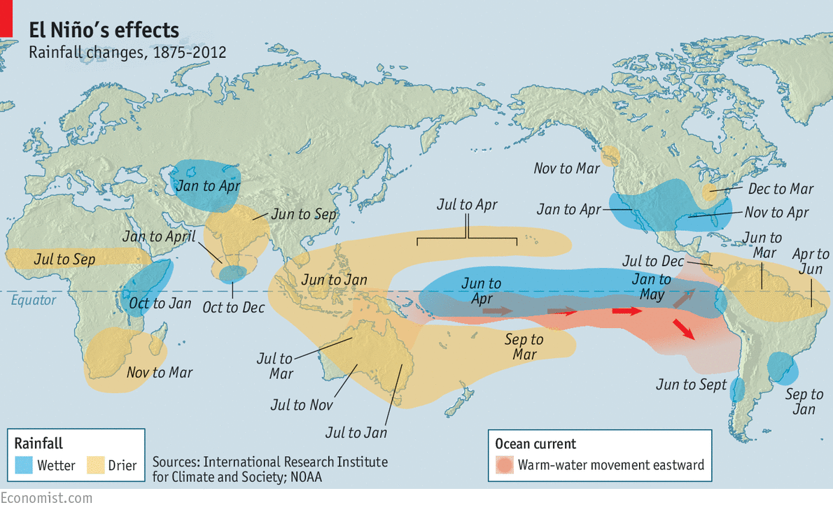 Disaster Foretold - El nino weather map usa
