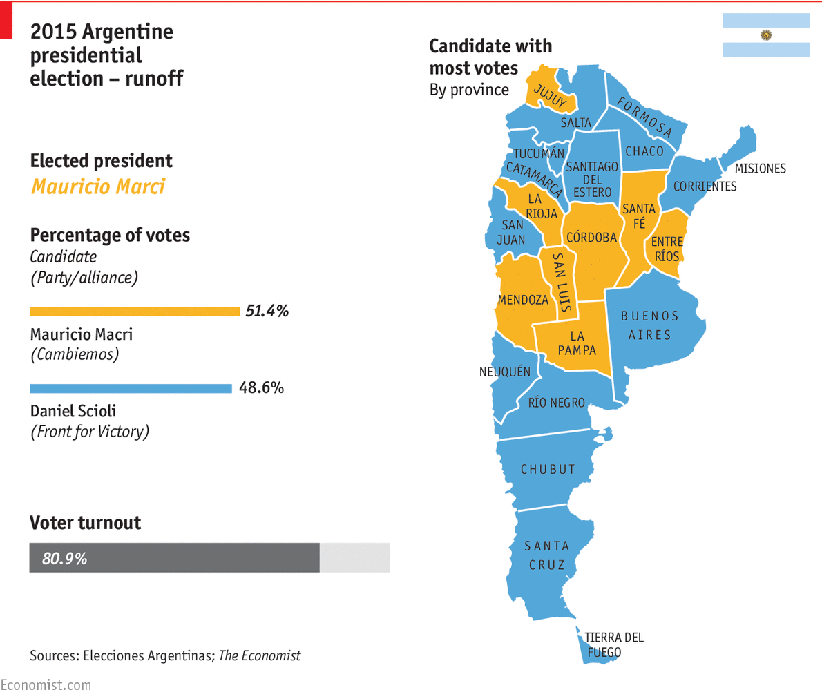 Mauricio Macris Victory Marks A Shift Away From Populism For - Argentina election map