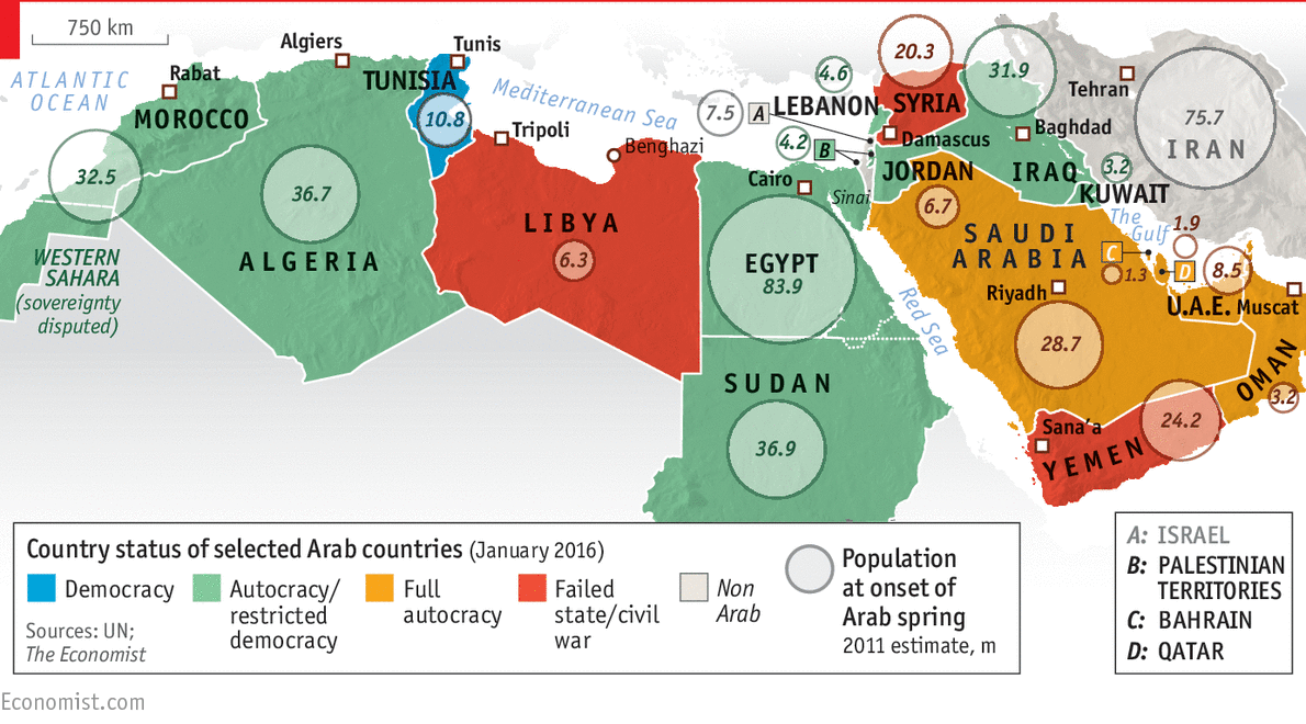 daily chartthe arab spring five years on