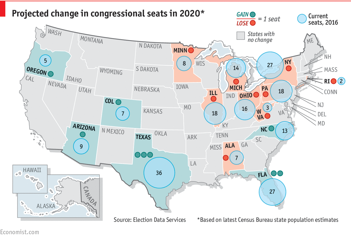 Predicting The Distribution Of Americas Congressional Seats - Us congress election map