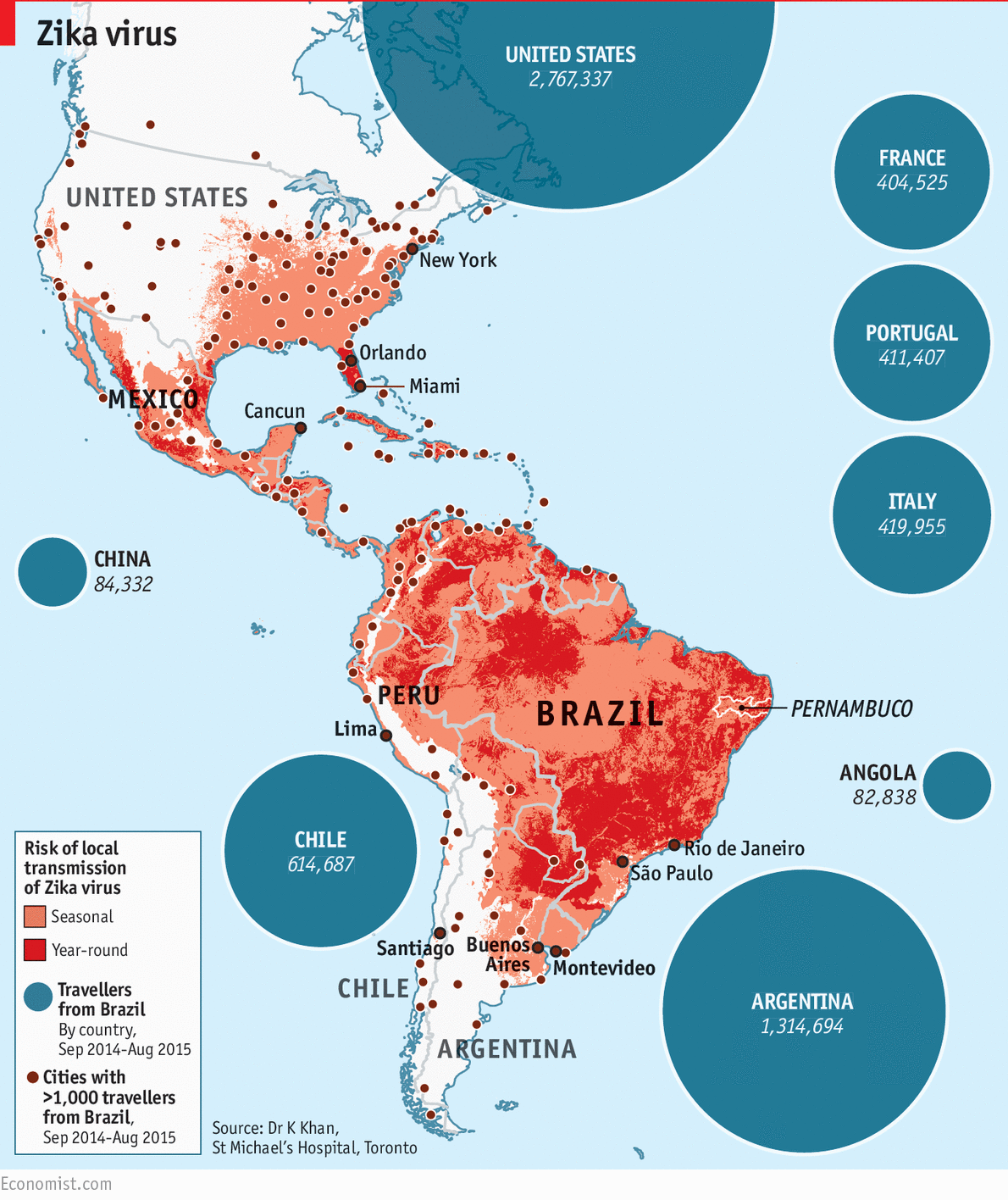 The spread of Zika virus Daily chart