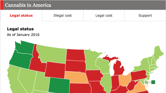 Interactive Map Marijuana And The Disjointed States Of America