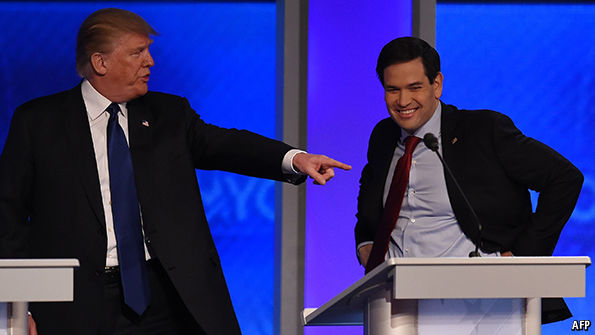 The Republican primary contenders have a big televised dust-up