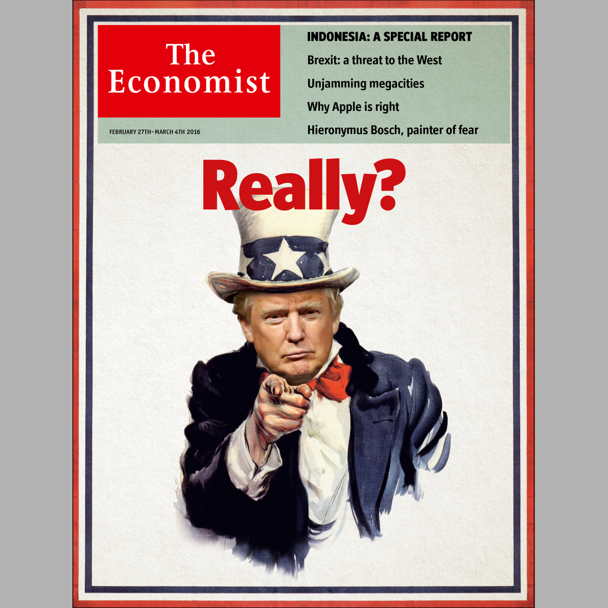 Donald Trump's rise seen through The Economist's covers ...