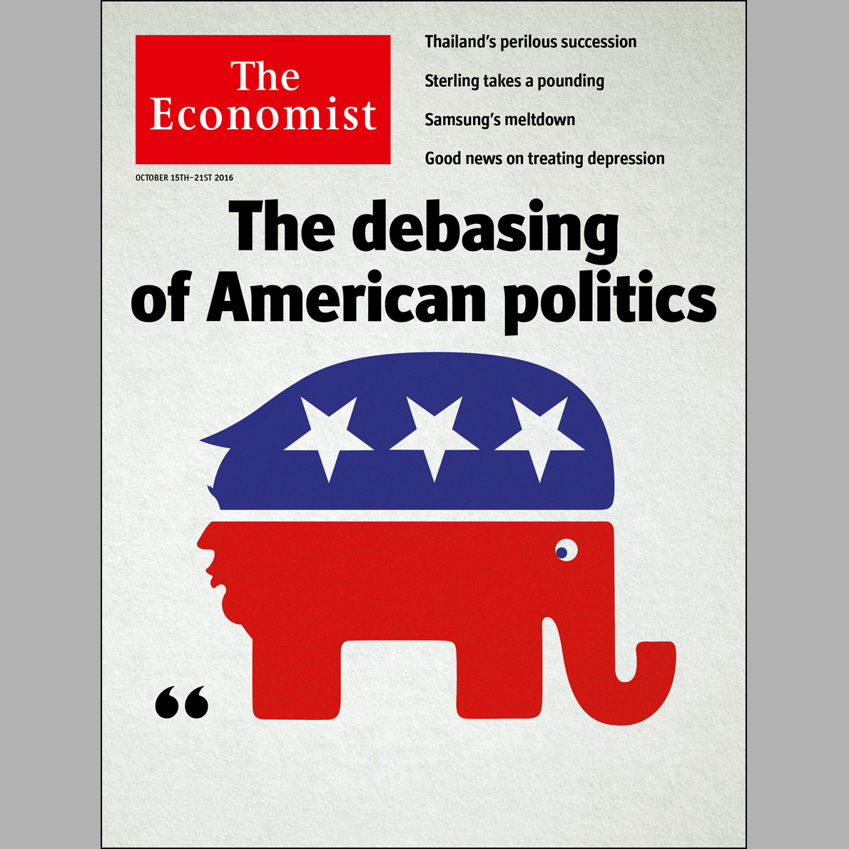 Donald Trump's rise seen through The Economist's covers