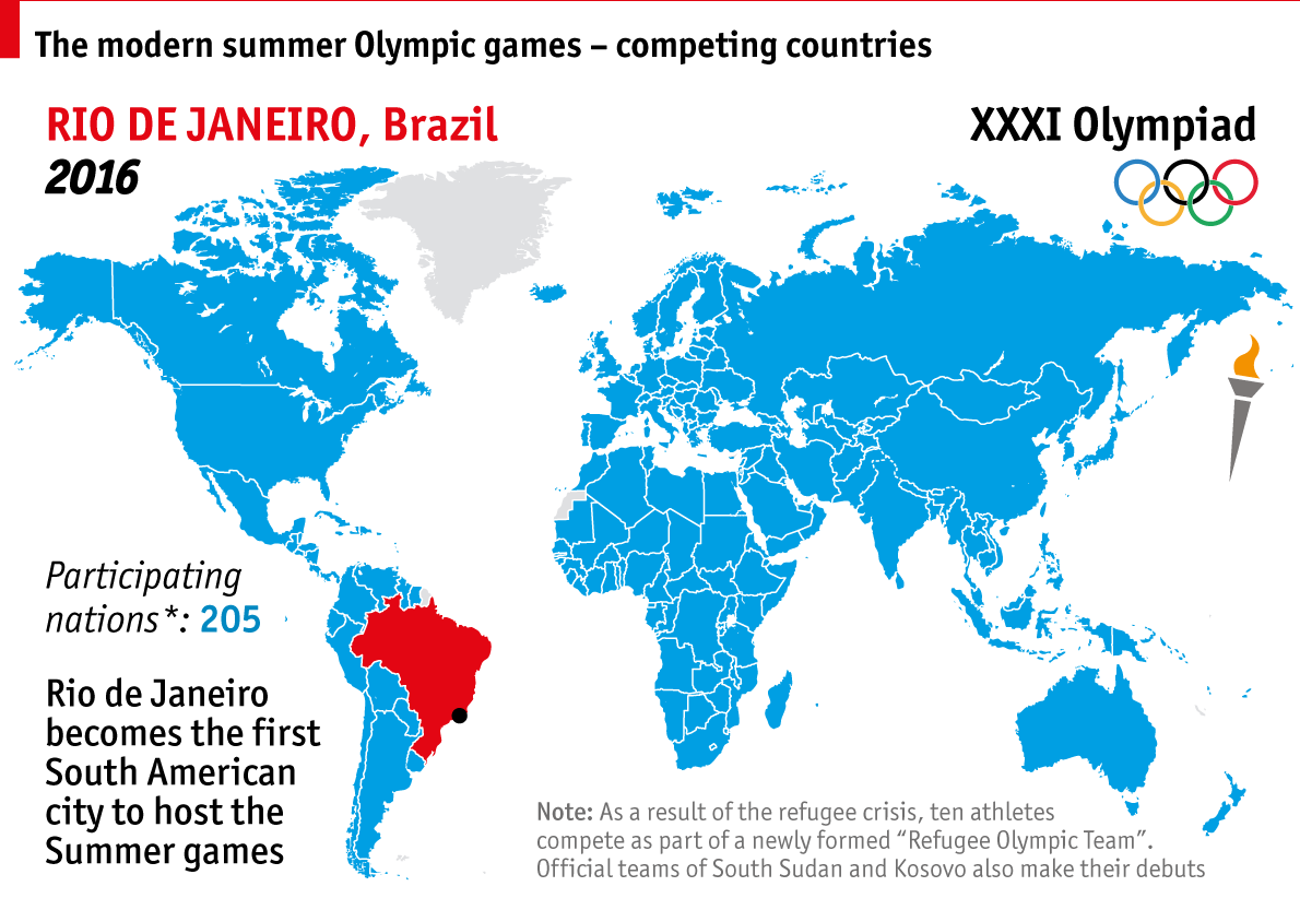 Mapping the modern olympics the summer olympics graphic detail gumiabroncs Image collections