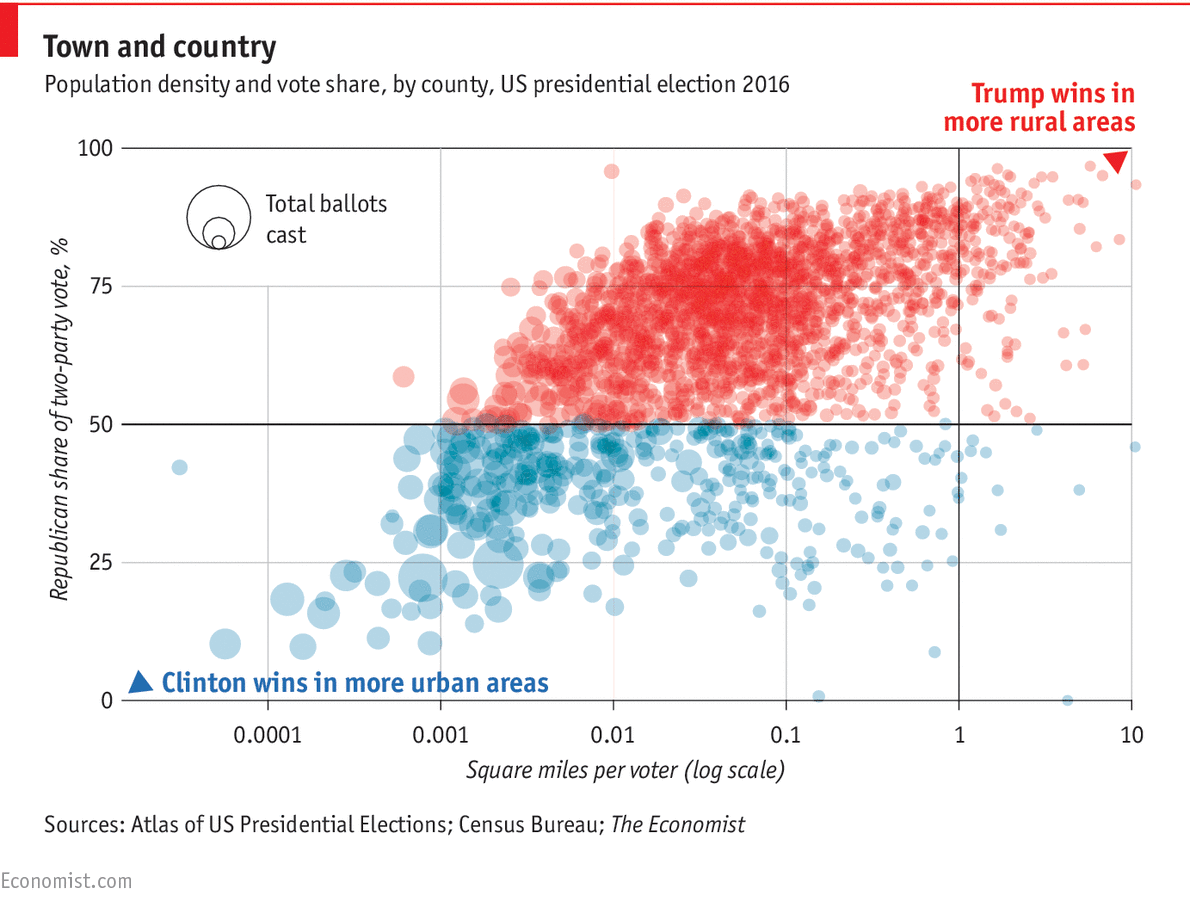 A country divided by counties Daily chart