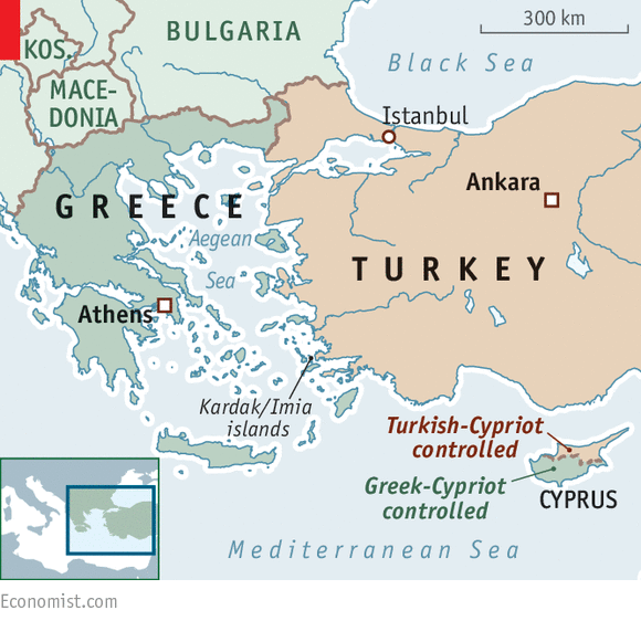 Turkey and Greece flex their muscles over rocks in the Aegean - Dude ...