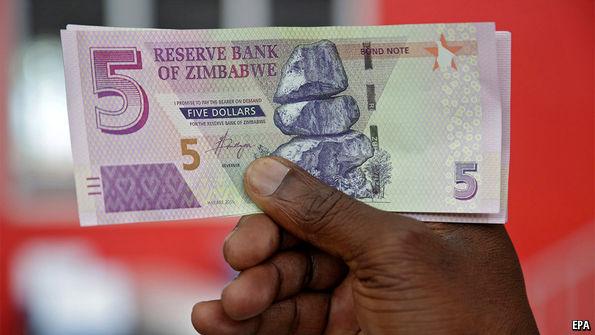 "Zimbabwe's new ""bond notes"" are falling fast"