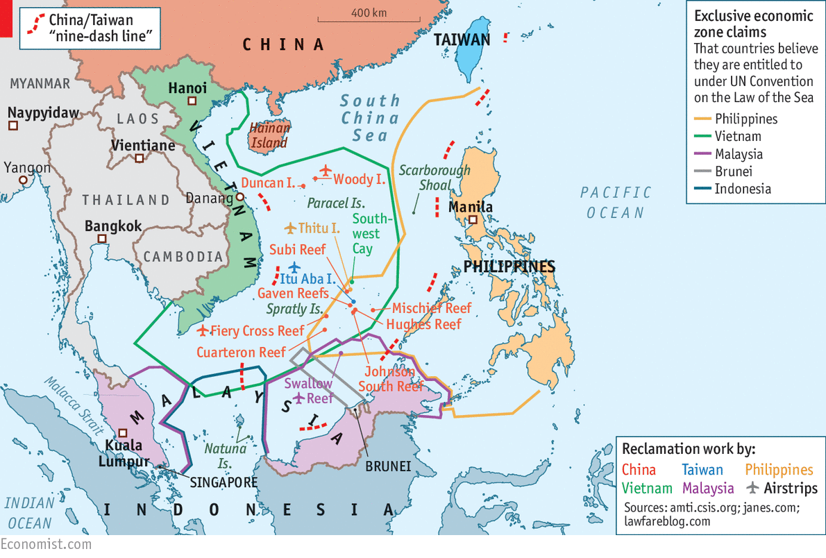 How Chinas Asian Neighbours Survive Greatpower Rivalry When - Economic zones southeast asia map