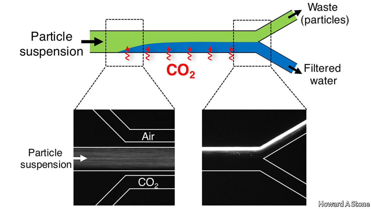 A way to make water potable using carbon dioxide