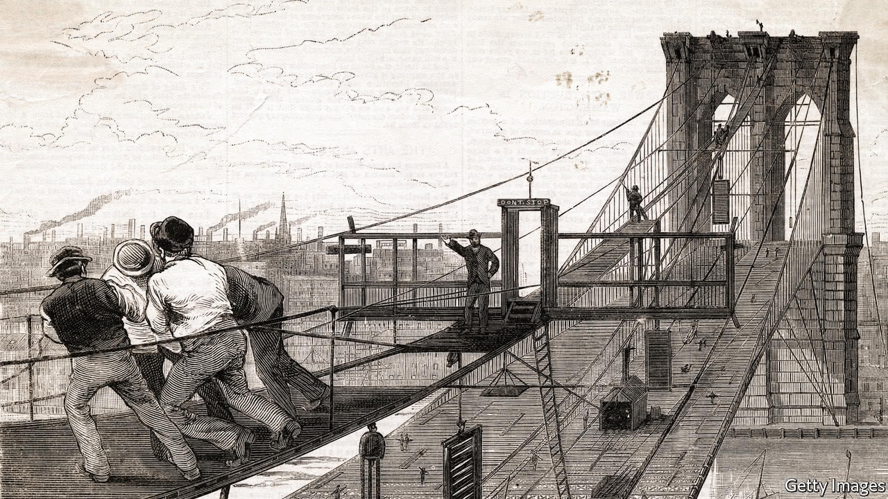 washington roebling and the construction of the brooklyn bridge This timeline shows the progression of the new york-brooklyn bridge, which was the premier engineering feat of its time, and puts its construction in greater historical context brooklyn bridge .
