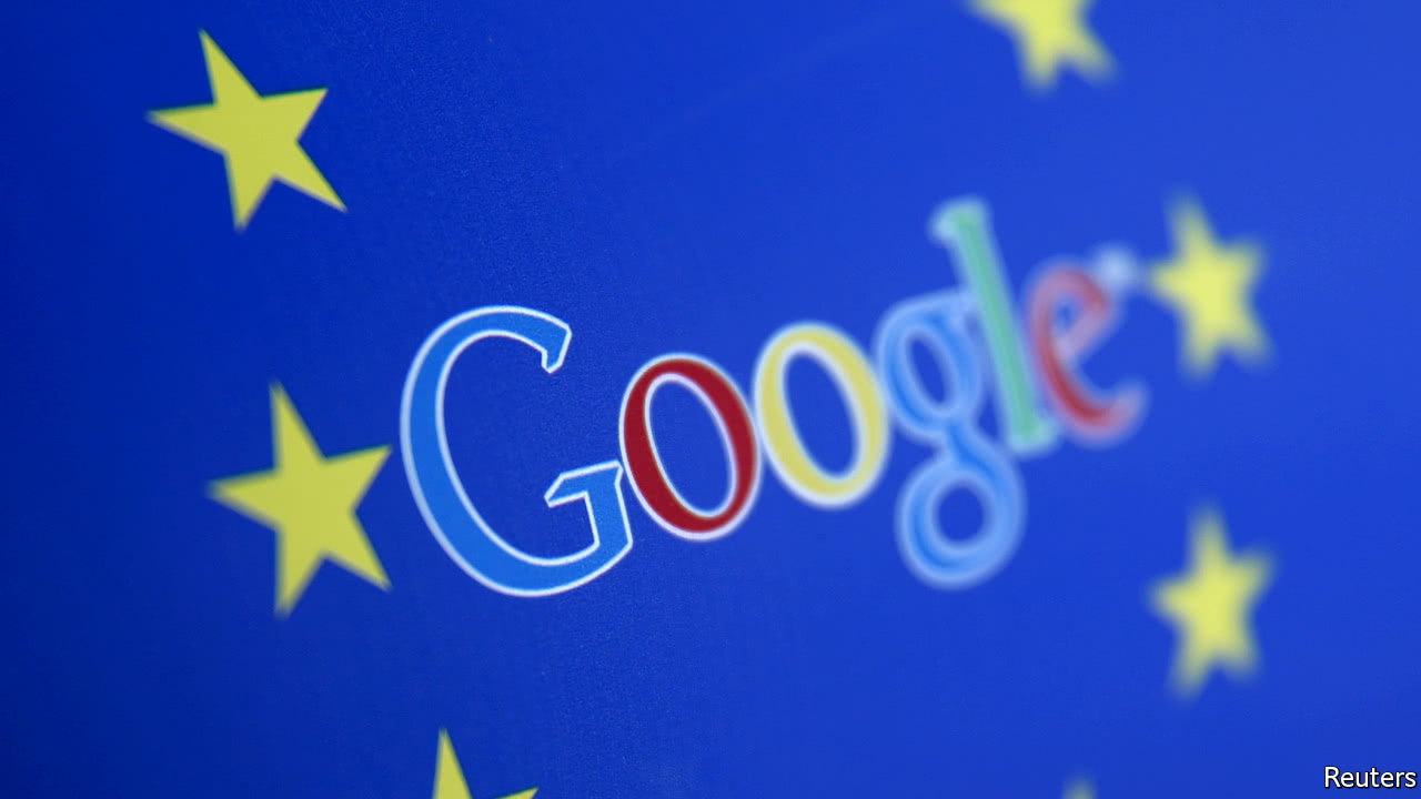 European Union fines Google a record $3.55 billion for antitrust breaches