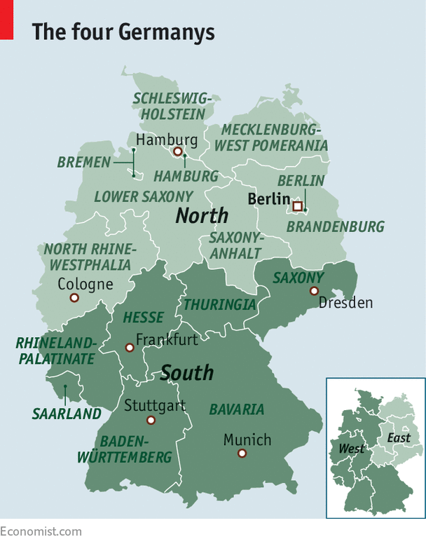 Germanys new divide The beautiful south