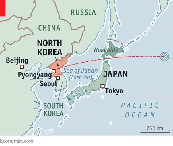 Japan Is Alarmed And Outraged By North Koreas Missile Test - Japan map questions