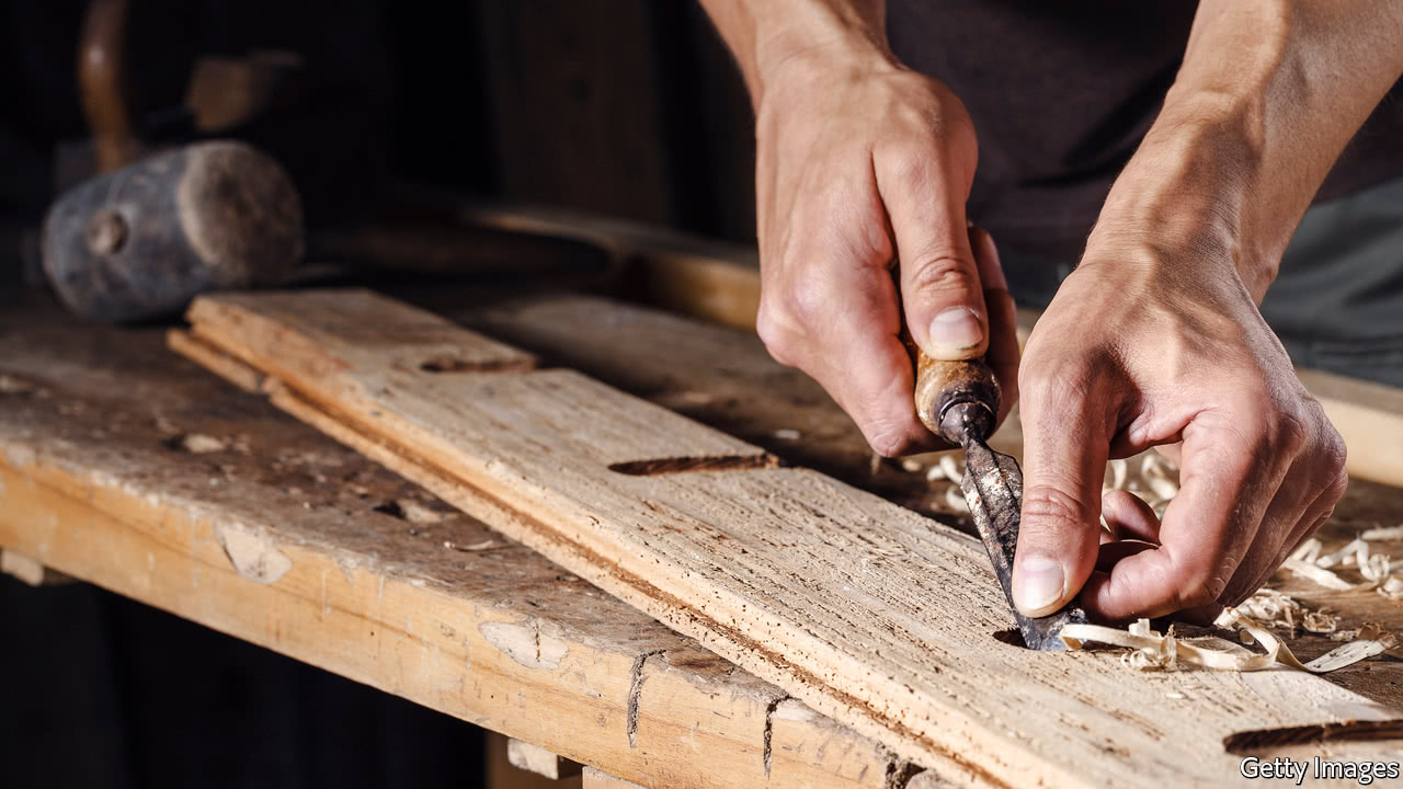 a carpenter philosophises in the eaves