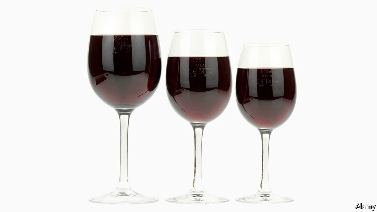 The size of wine glassesBritish wine glasses have got bigger over the years. British wine glasses have got bigger over the years   The size of