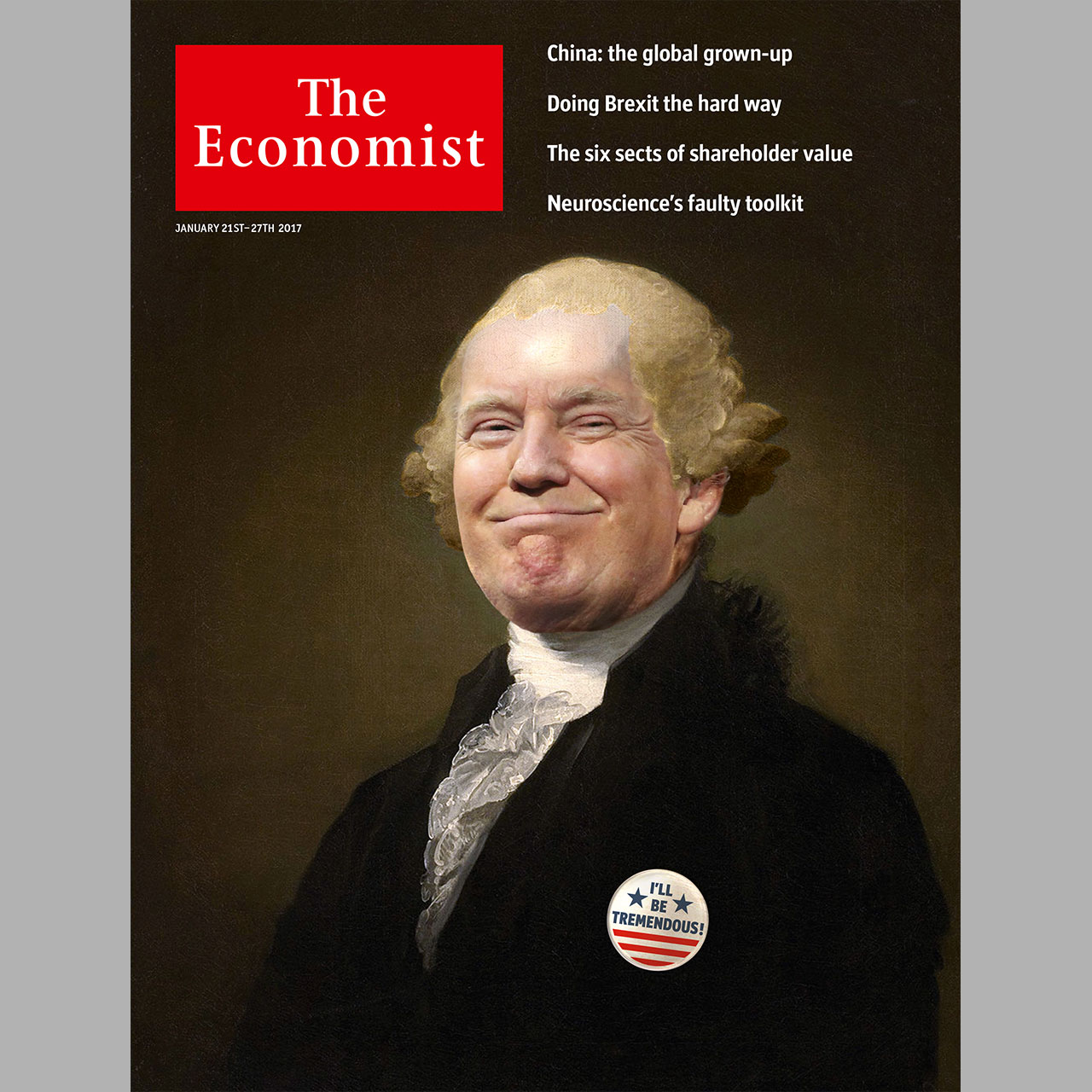 President Trump's first year, through The Economist's covers