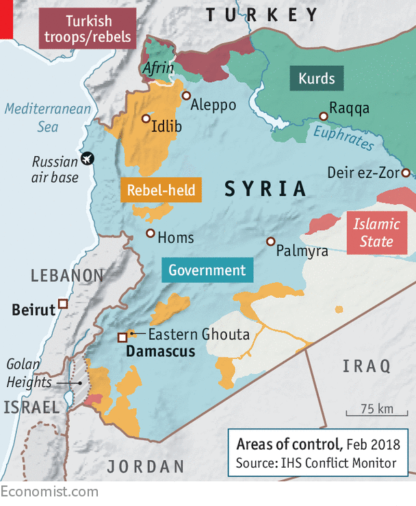 the territorial demise of is has allowed mr assad to focus on the final pockets of resistance to his regime in western syria the most populous part of the