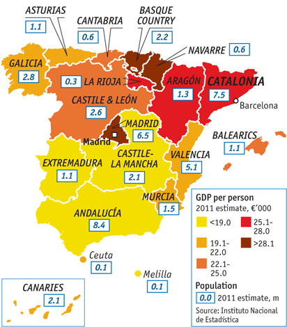 Map Of Spain Showing Catalonia.The Trials Of Keeping A Country Together Spain And Catalonia
