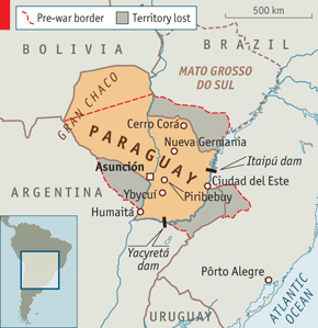 The Neverending War Paraguays Awful History - Map of paraguay world
