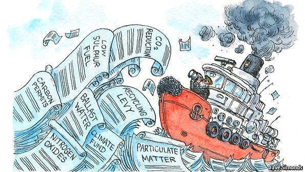 Sinking under a big green wave
