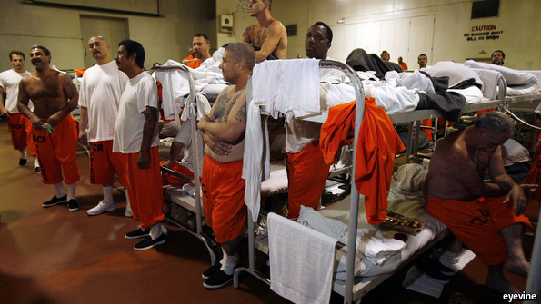 prison over crowding A lot of people committing crimes, over and over again there is no conspiracy you have a country with a huge heterogeneous population, effective law enforcement and a functioning court system, and the financial resources to lock up nearly all.