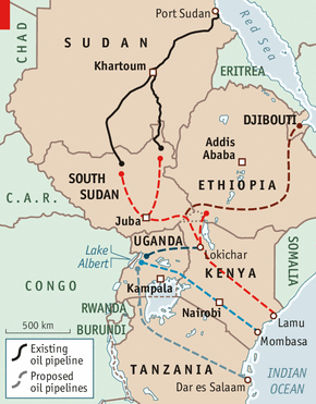 east africa map with south sudan