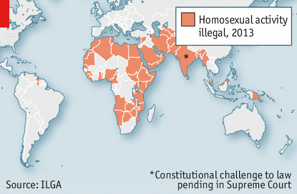 Legality of homosexuality in europe