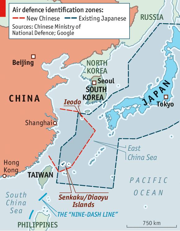 Regional Turbulence The East China Sea - Japan zone map