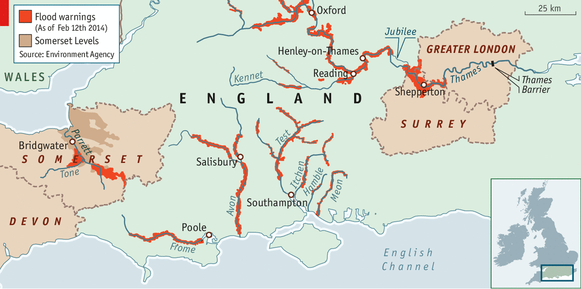 Floods England Map.High Water Everywhere The Floods