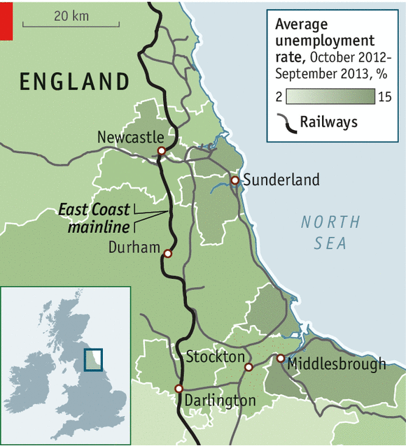 Track changes - Transport in the north-east